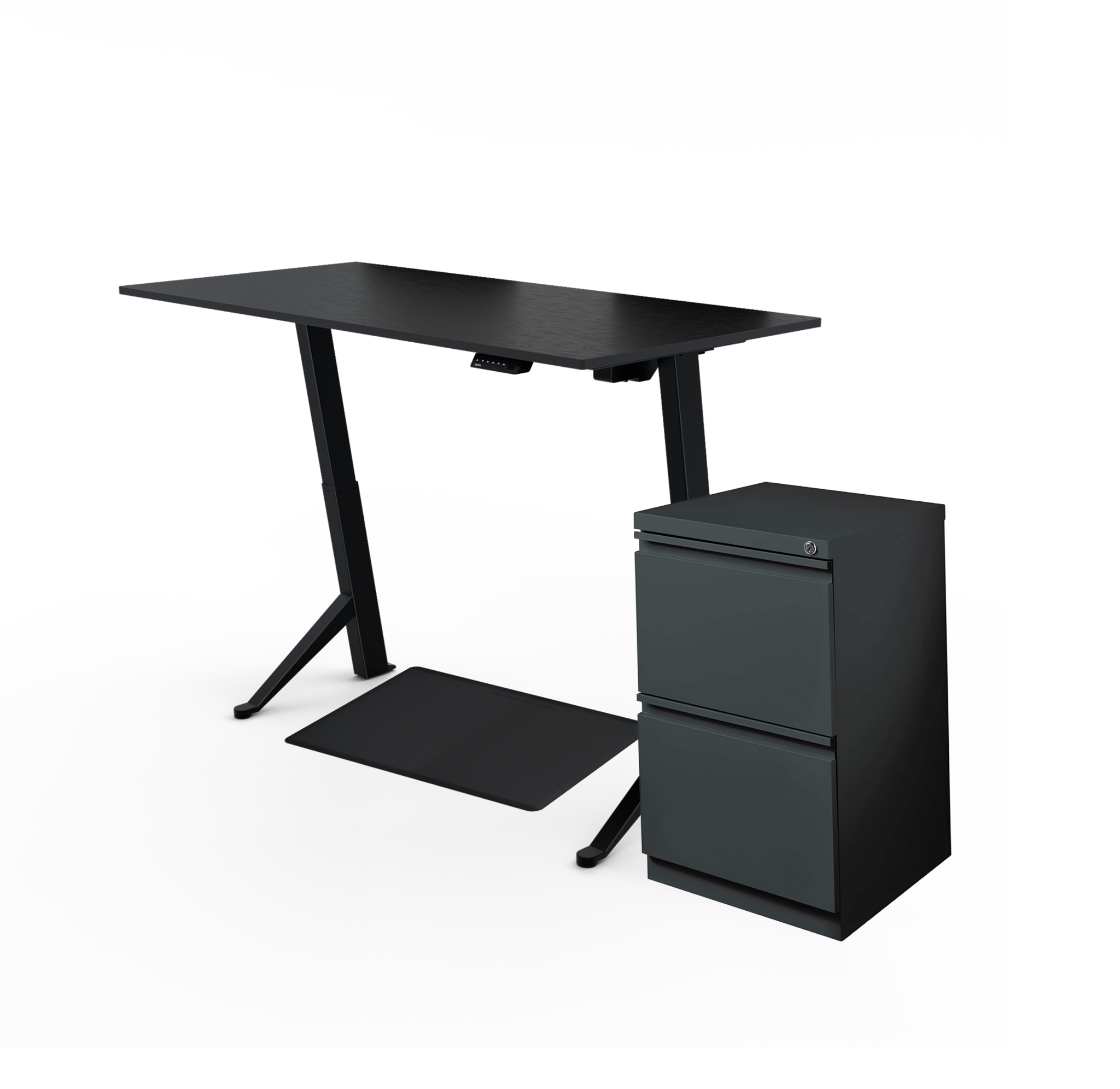 UPDESK Home Electric Adjustable Standing Desk Bundle
