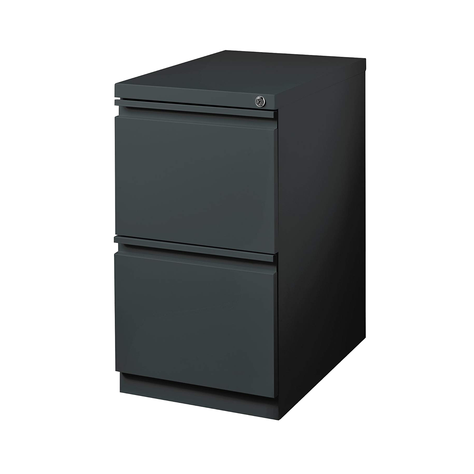Premium 2-Drawer Mobile Locking Filing Cabinet/Pedestal - Black
