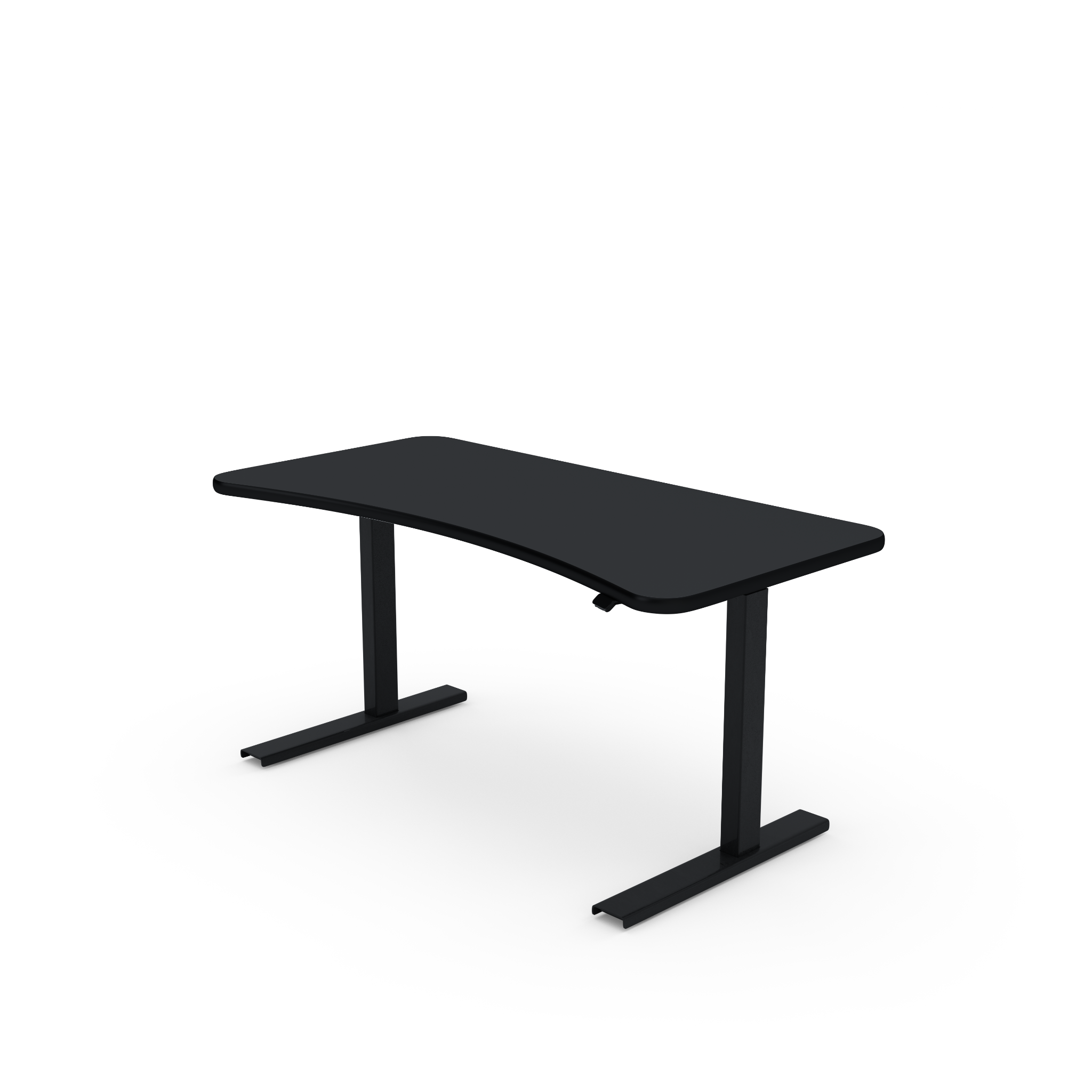 UPDESK Electric Lift Standing Desk - Standard Black Top on Black Frame **CLOSEOUT**