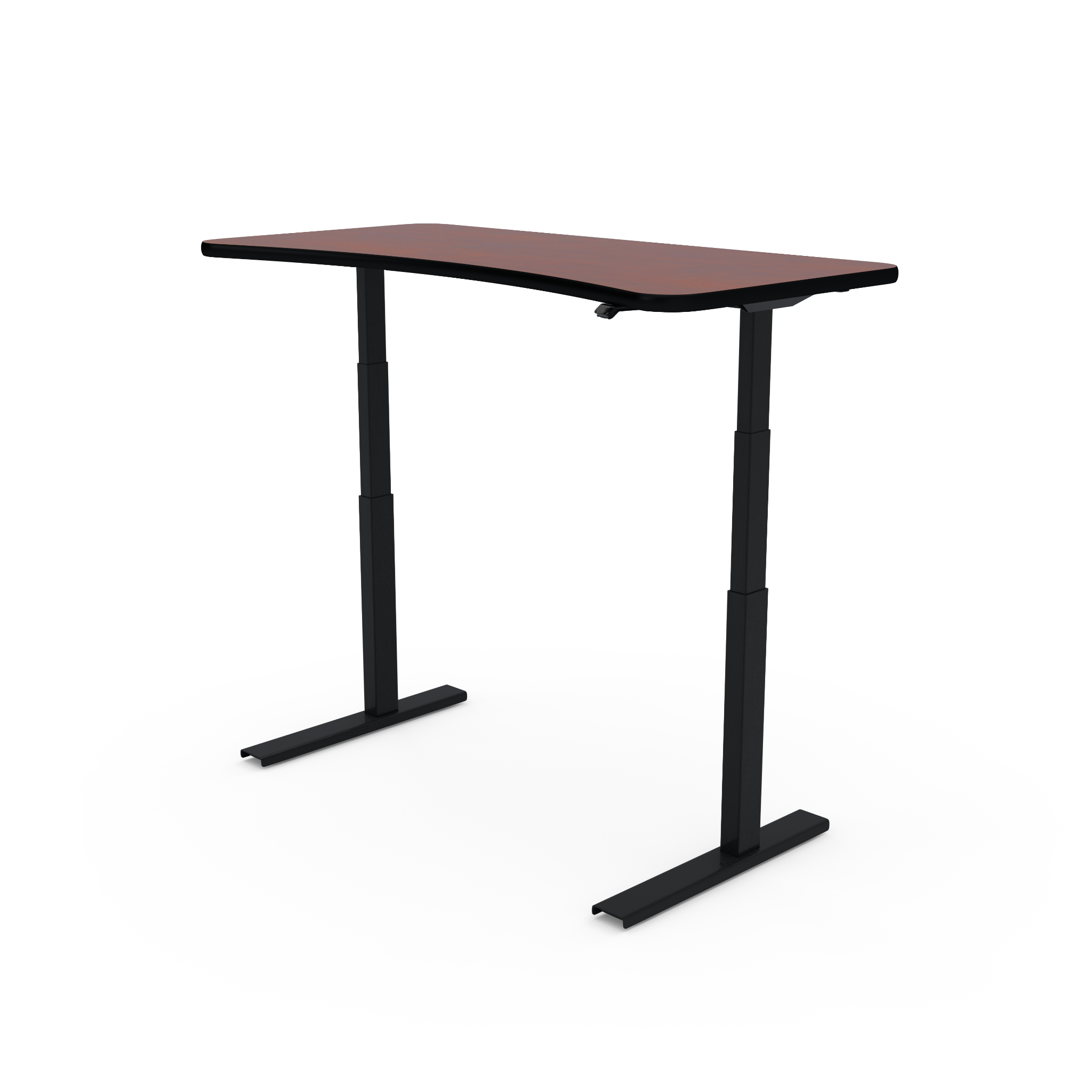 UPDESK Electric Lift Standing Desk - Standard Cherry Top on Black Frame **CLOSEOUT**
