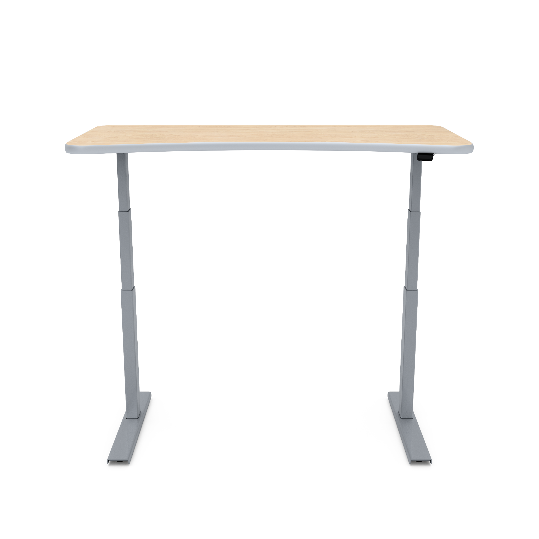 UPDESK Electric Lift Standing Desk - Standard Maple Top on Titanium Frame **CLOSEOUT**