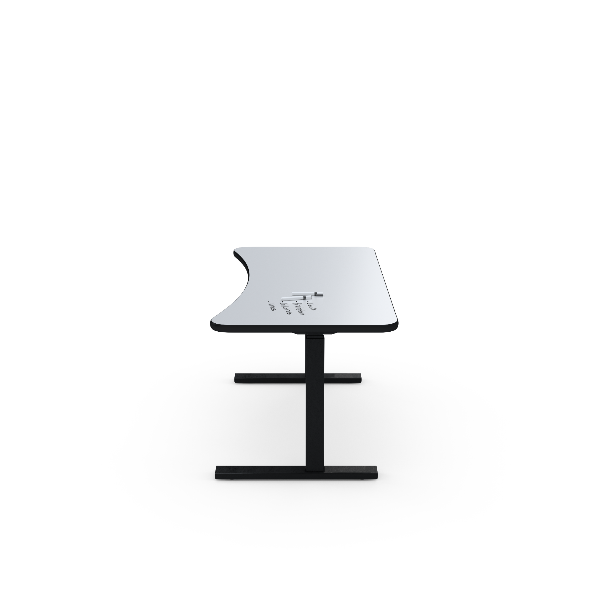 UPDESK Electric Lift Standing Desk - UpWrite Daylight Top w/ Black Trim on Black Frame **CLOSEOUT**