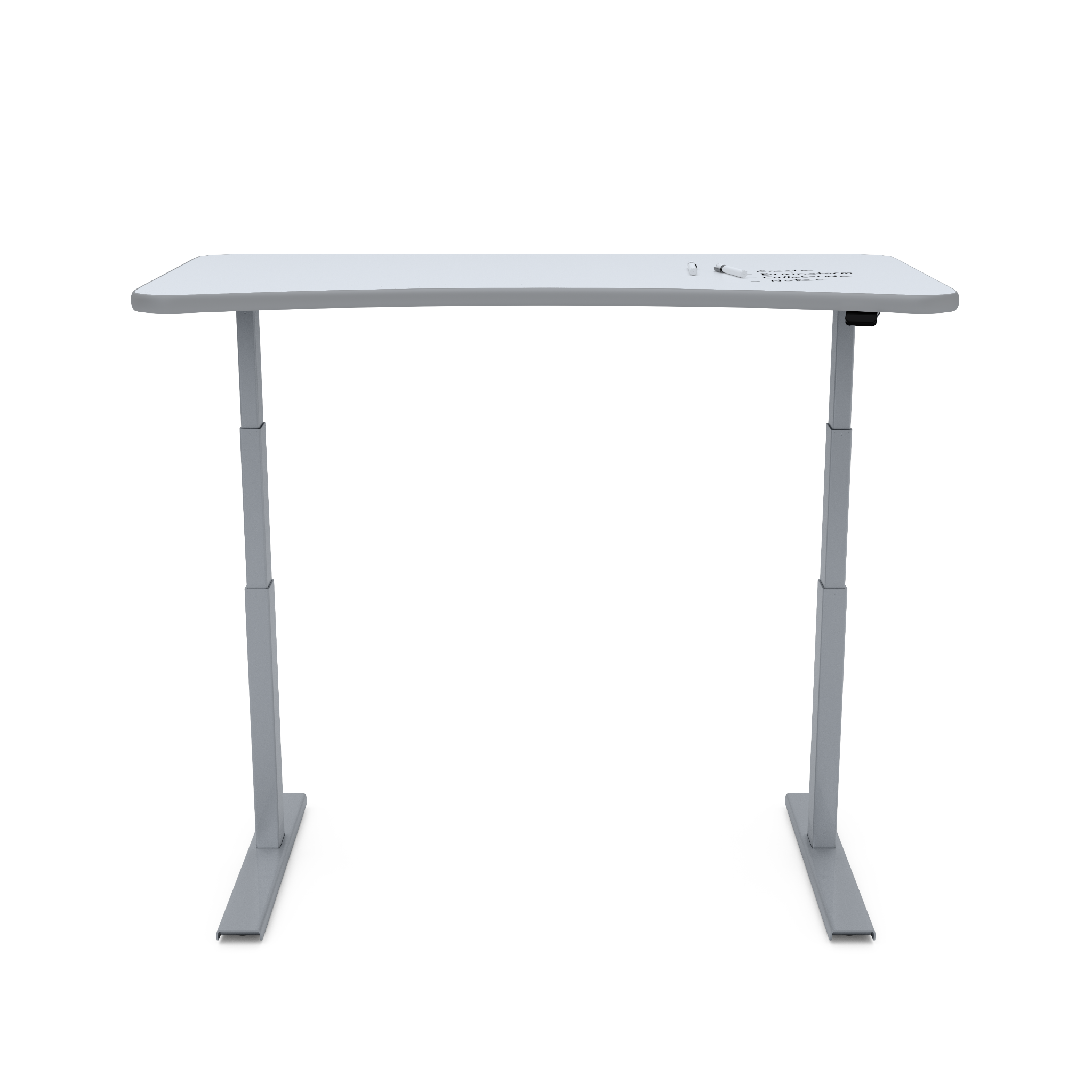 UPDESK Electric Lift Standing Desk - UpWrite Daylight Top w/ Gray Trim on Titanium Frame **CLOSEOUT**