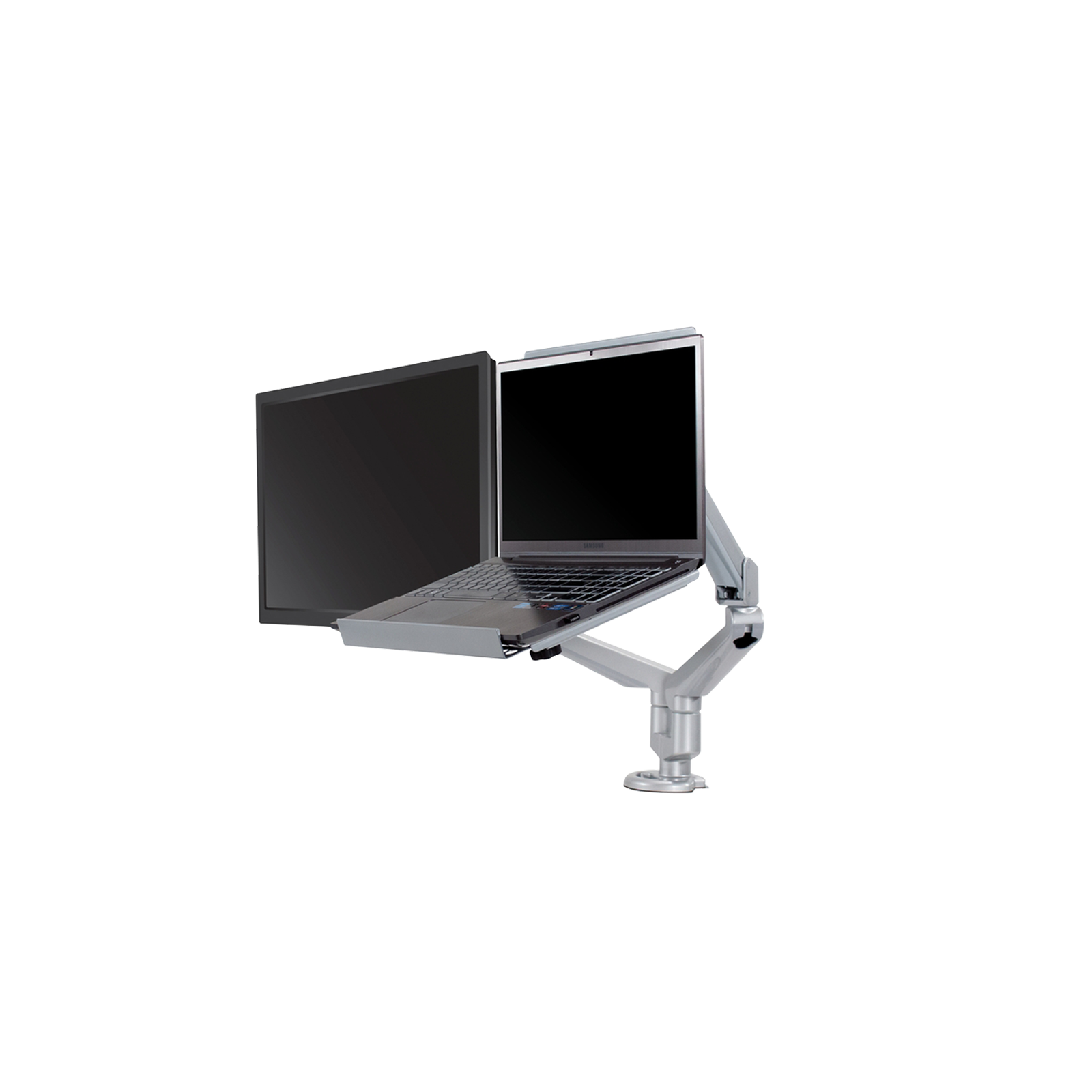 Monitor Support - Dual With Laptop Stand