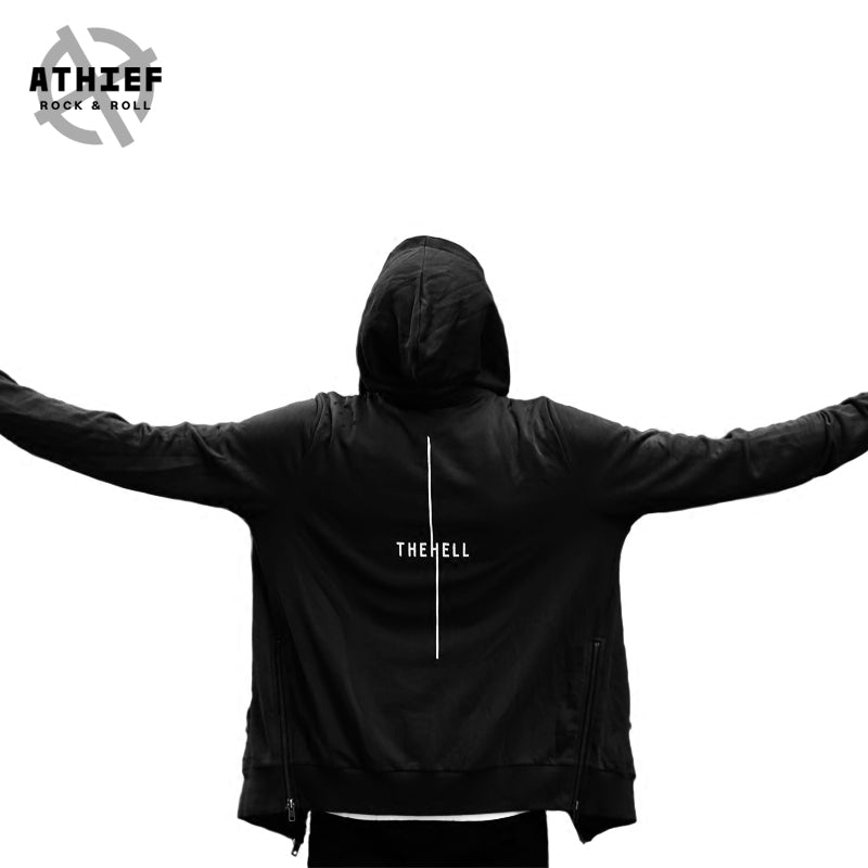 ATHIEF Men Fashionable  Gothic style 100% Cotton Streetwear hoodie