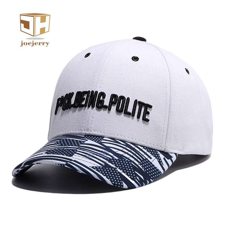 """F*CK BEING POLITE"" Embroidered White Baseball Cap"