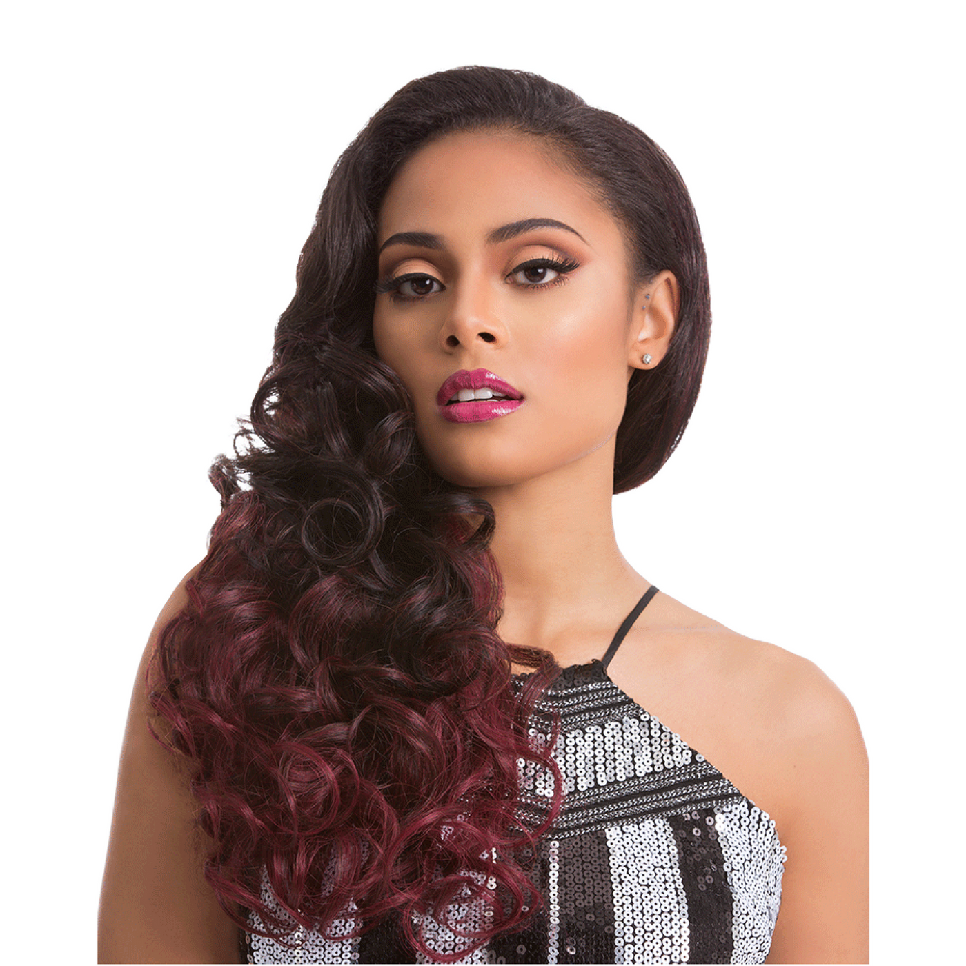 Sensationnel Synthetic Hair Instant Weave Glam Series Half Wig