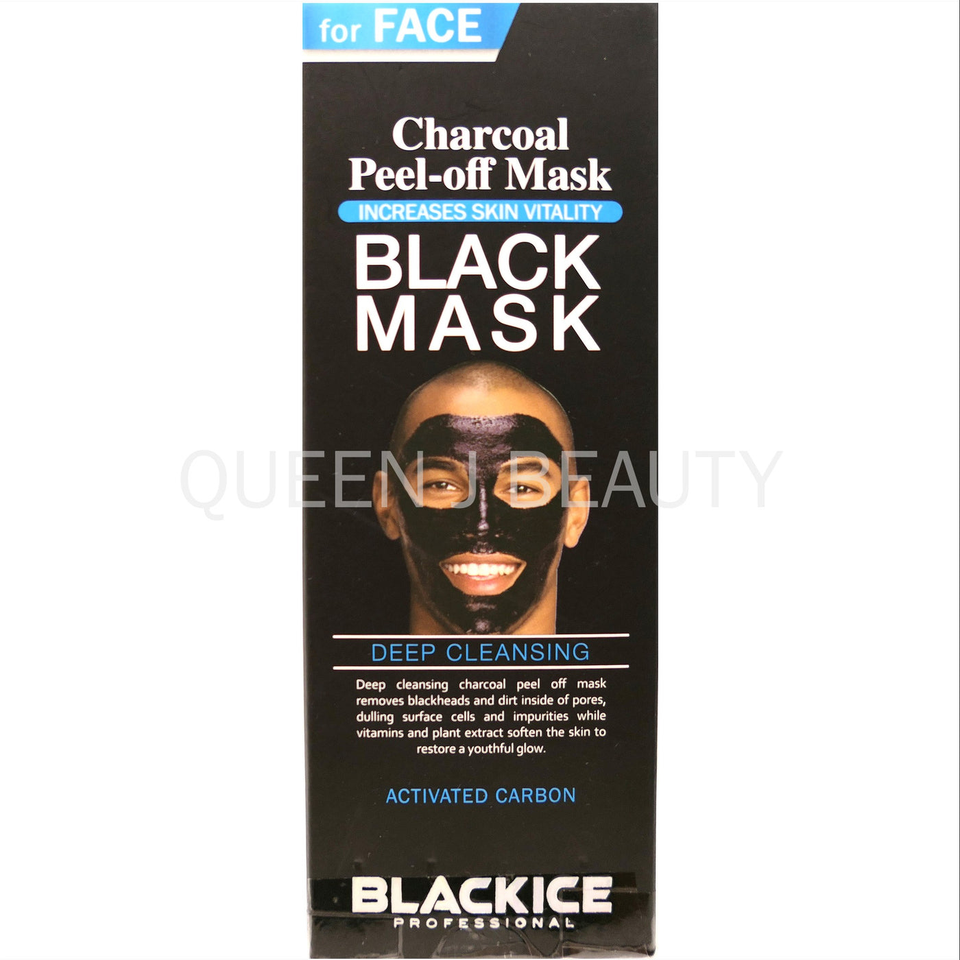 BLACKICE MEN Deep Cleansing CHARCOAL PEEL OFF MASK for FACE – Queen