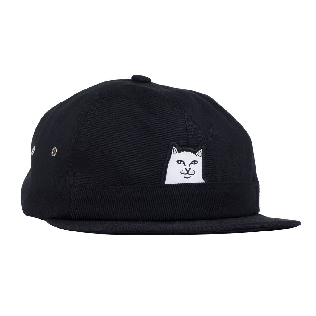 Lord Nermal 6 Panel Pocket Hat (Black)