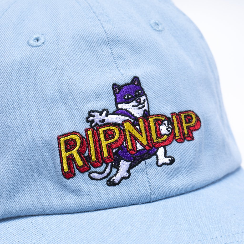 Captain Nermal Pants Dad Hat (Light Blue)