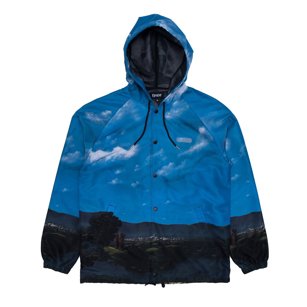 Hold Me Hooded Coaches Jacket (Navy)