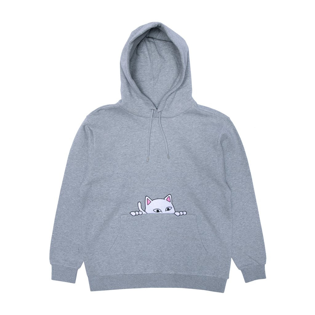 Peeking Nermal Hoodie (Heather Grey)