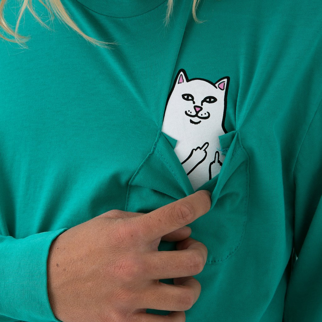 Lord Nermal Pocket Tee Long Sleeve (Teal)