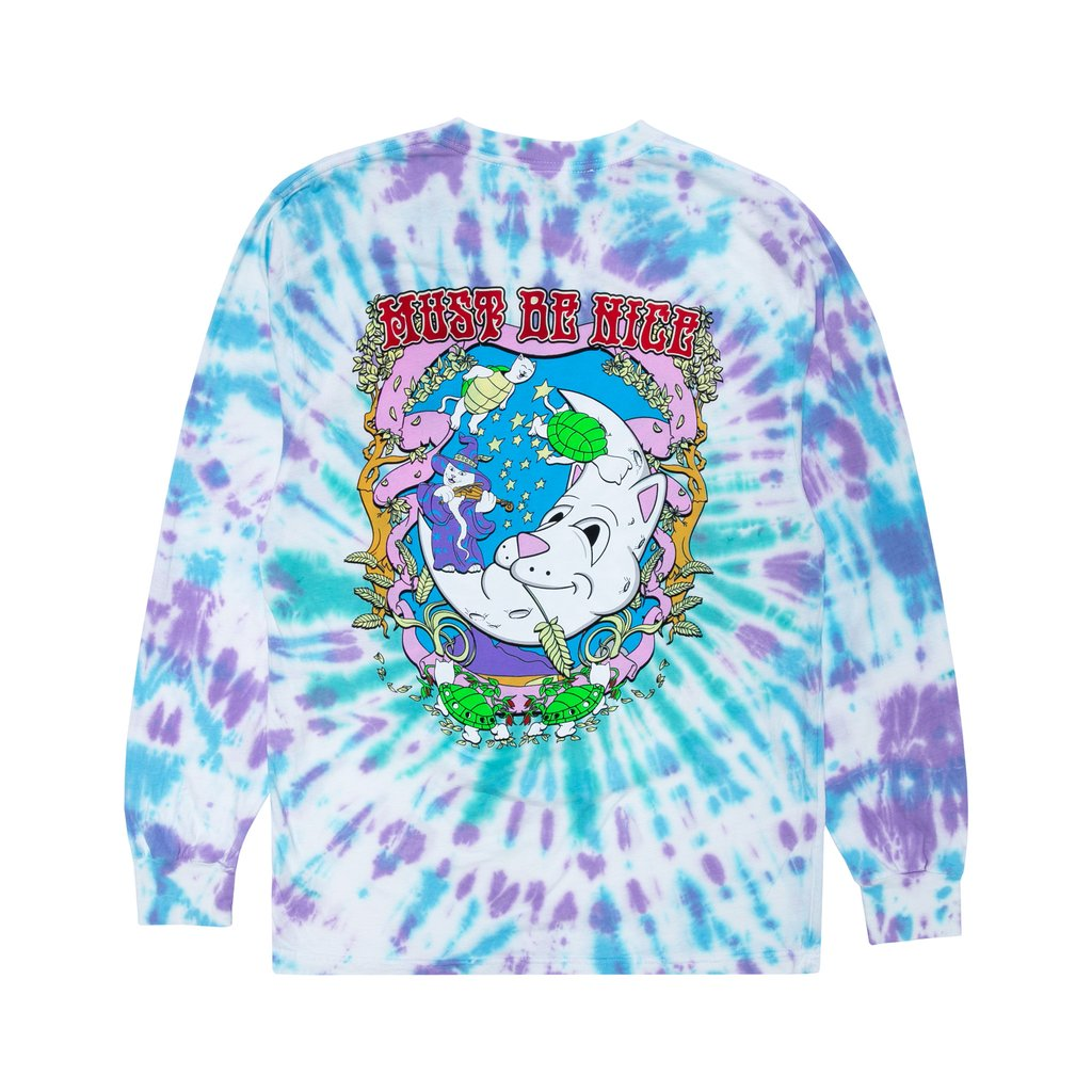 Wizard Long Sleeve (Teal/Purple Dye)