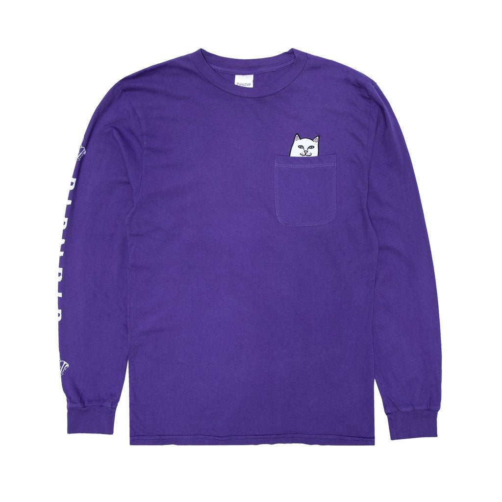 Lord Nermal Pocket Tee Long Sleeve (Purple)
