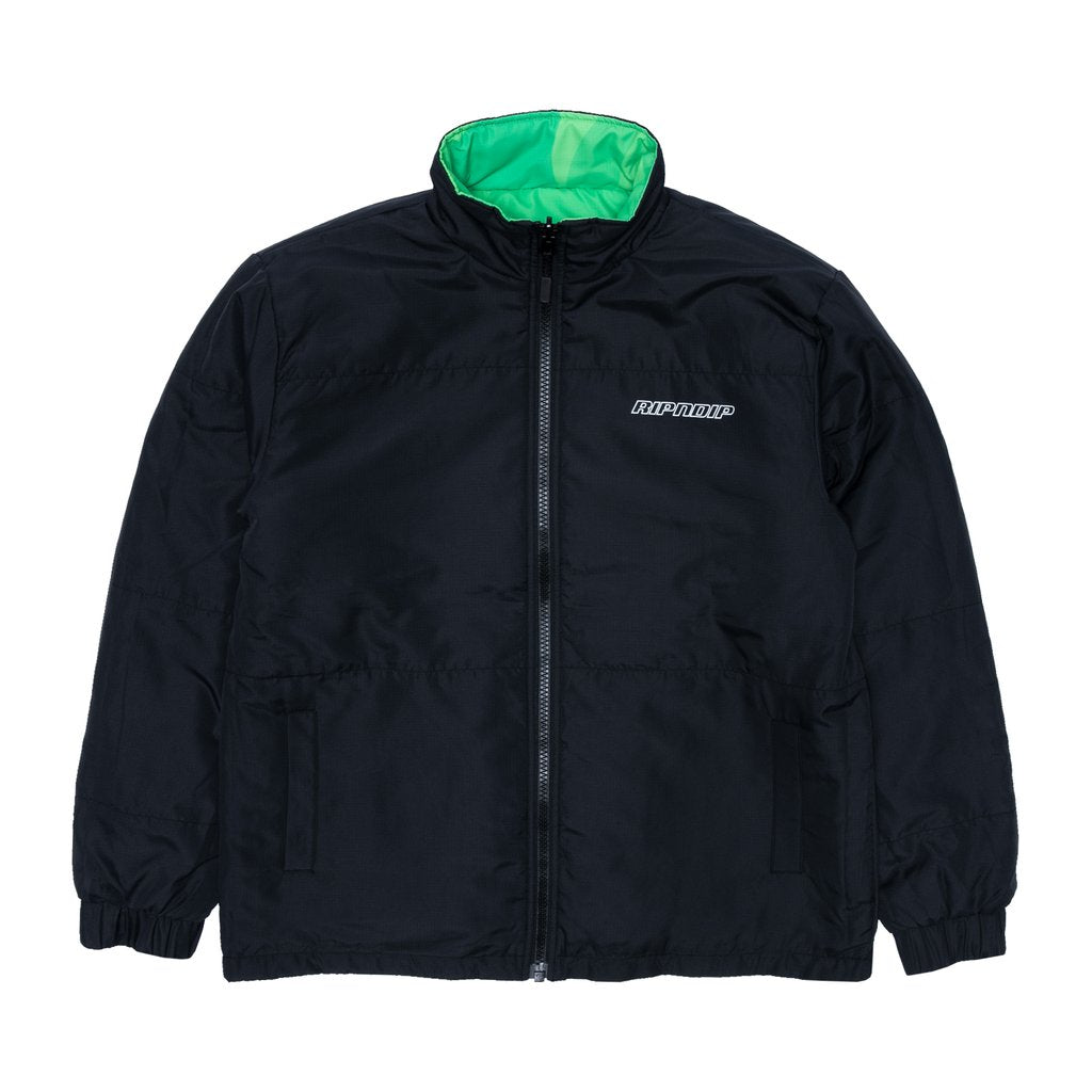 Neo Nerm Reversible Field Puffer Jacket (Black & Tunal Green)