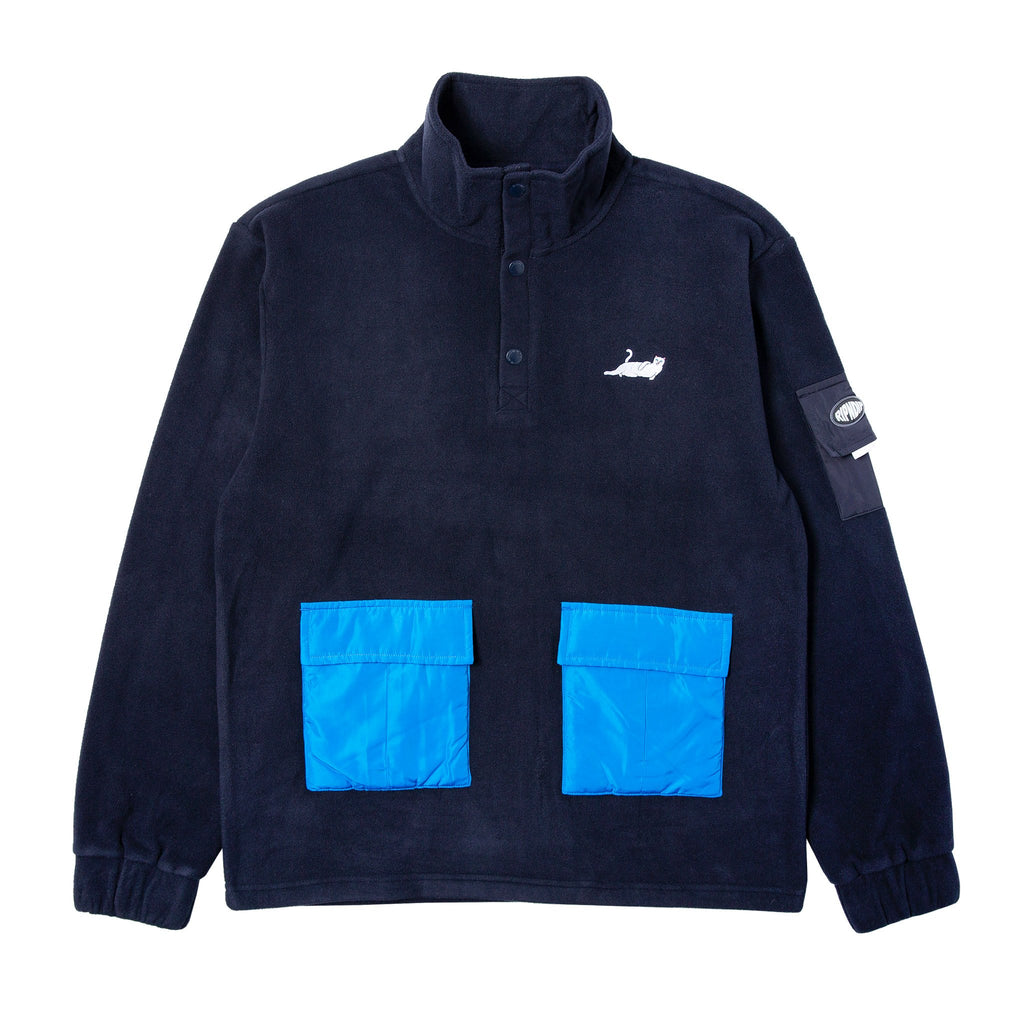 Castanza Brushed Fleece (Navy)