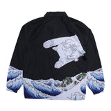 The Greatest Wave Coaches Jacket (Black)
