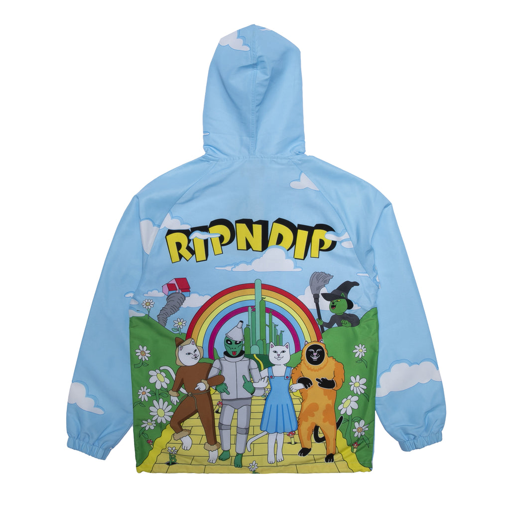 No Place Like Home Hooded Coaches Jacket (Baby Blue)