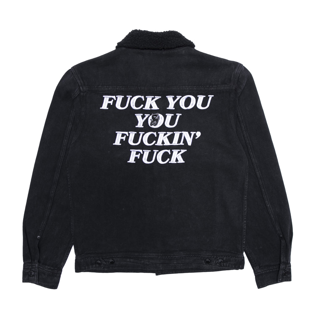 Fucking Fuck Denim Sherpa Jacket (Black Wash)