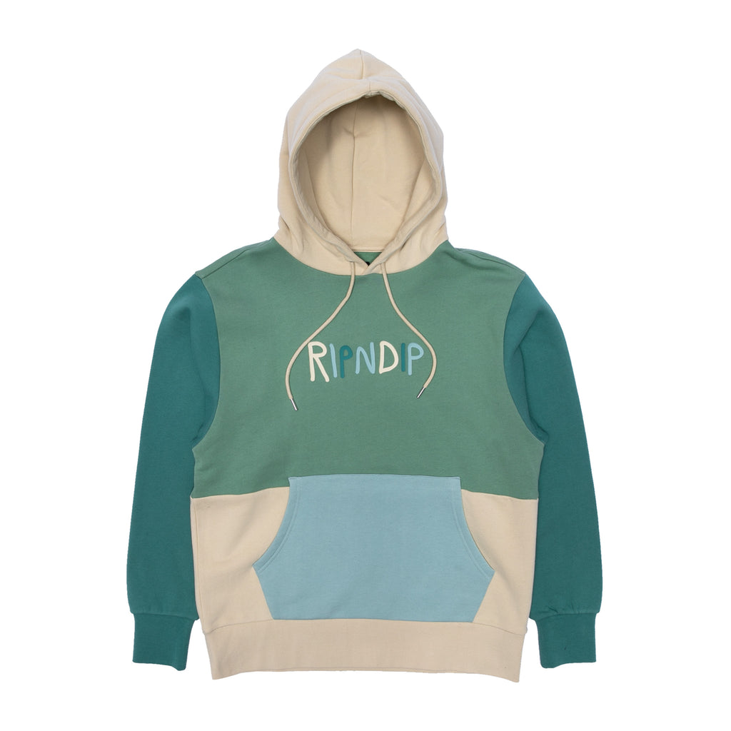 Color Block Rubber Logo Hoodie (Multi)