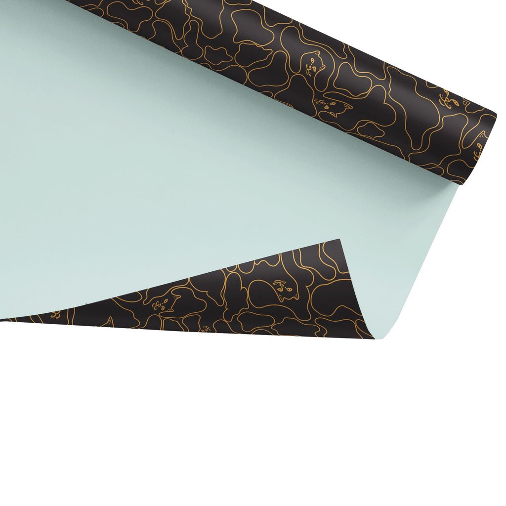 Nermal Line Camo Wrapping Paper (Gold)