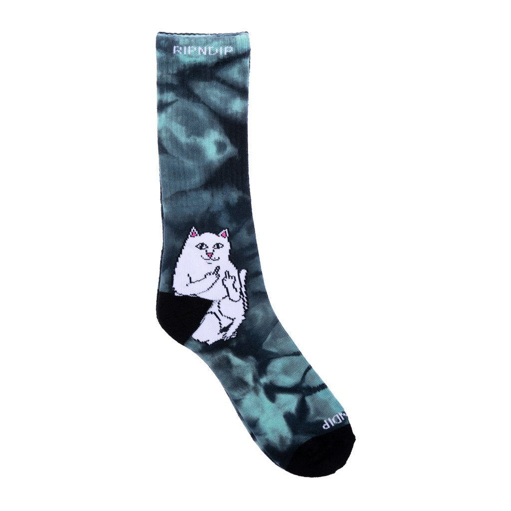 Lord Nermal Socks (Green Tie Dye)