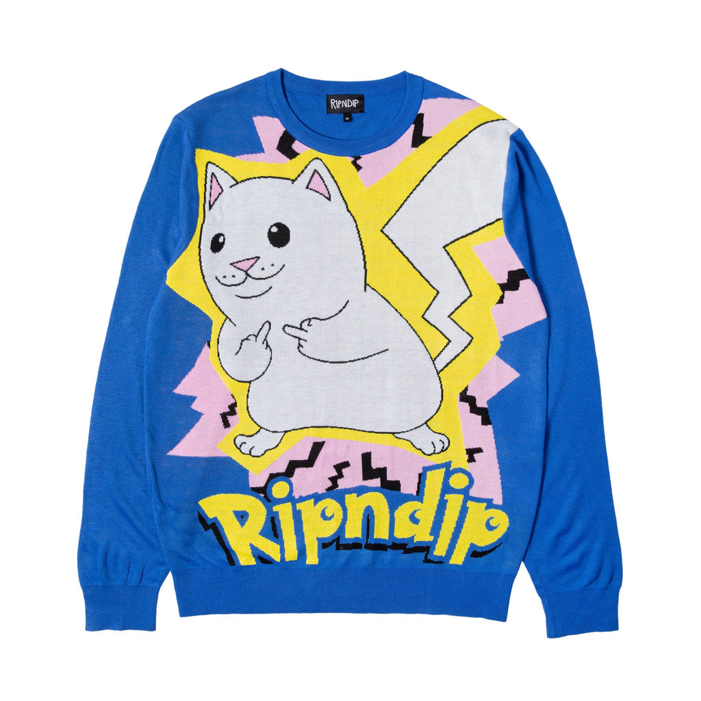 Catch Em All Sweater (Blue)