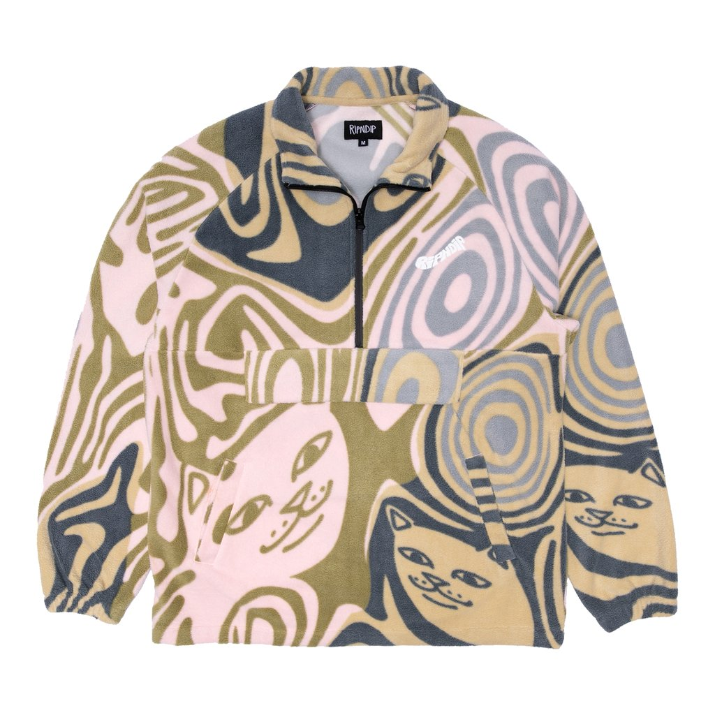 Hypnotic Brushed Fleece Half Zip (Multi)