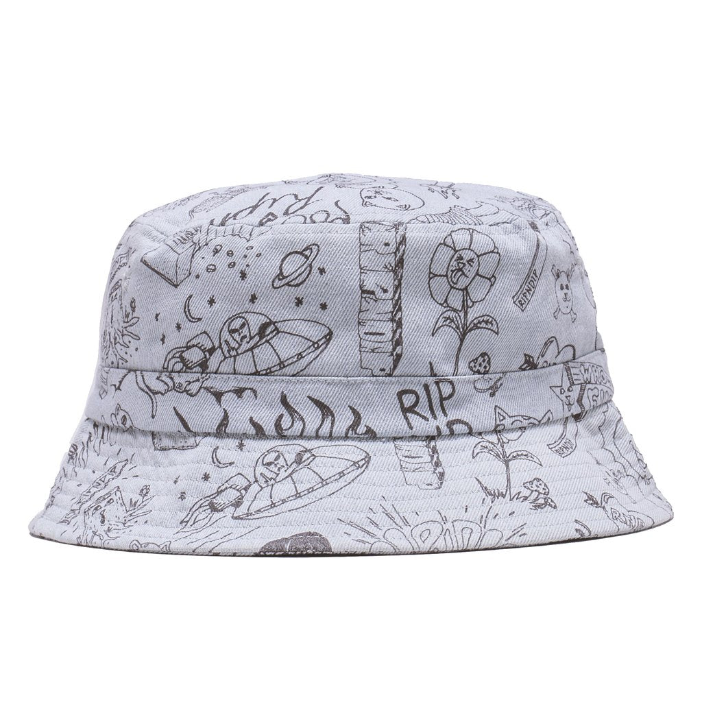 Sharpie Bucket Hat (Light Denim Wash)