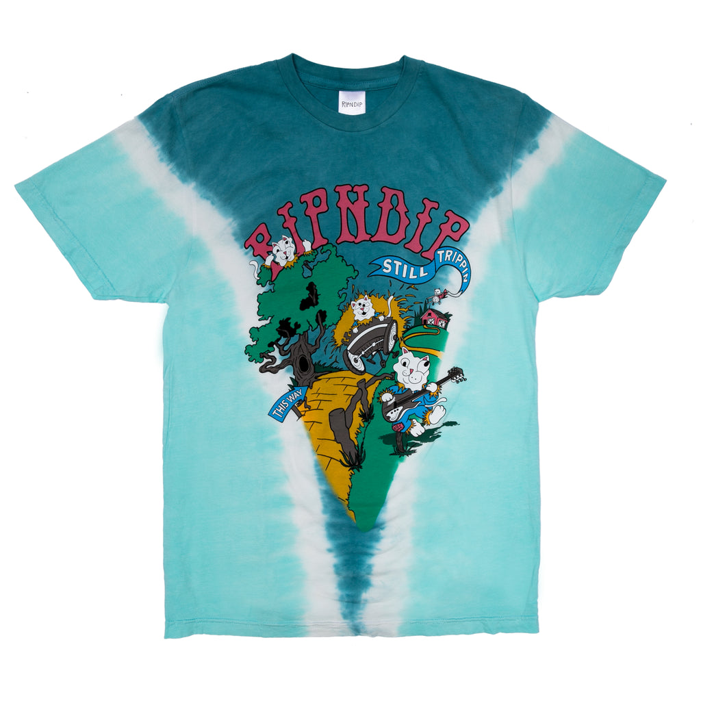 Band Wagon Tee (Teal V Dye)