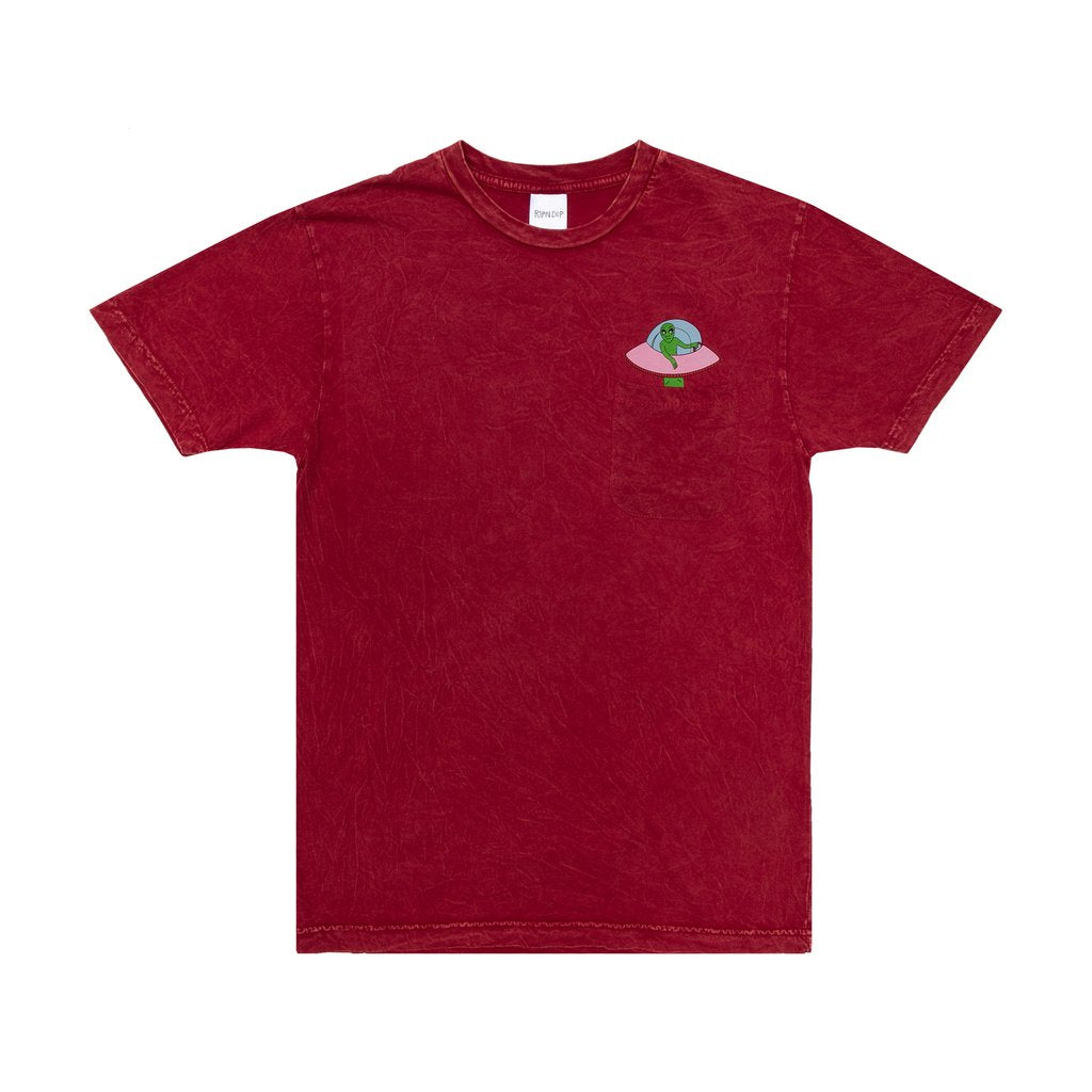Abduction Tee (Red Mineral Wash)
