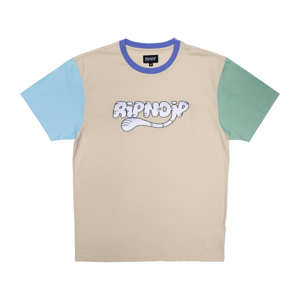 Ripntail Color Block Emboidered Tee (Multi)