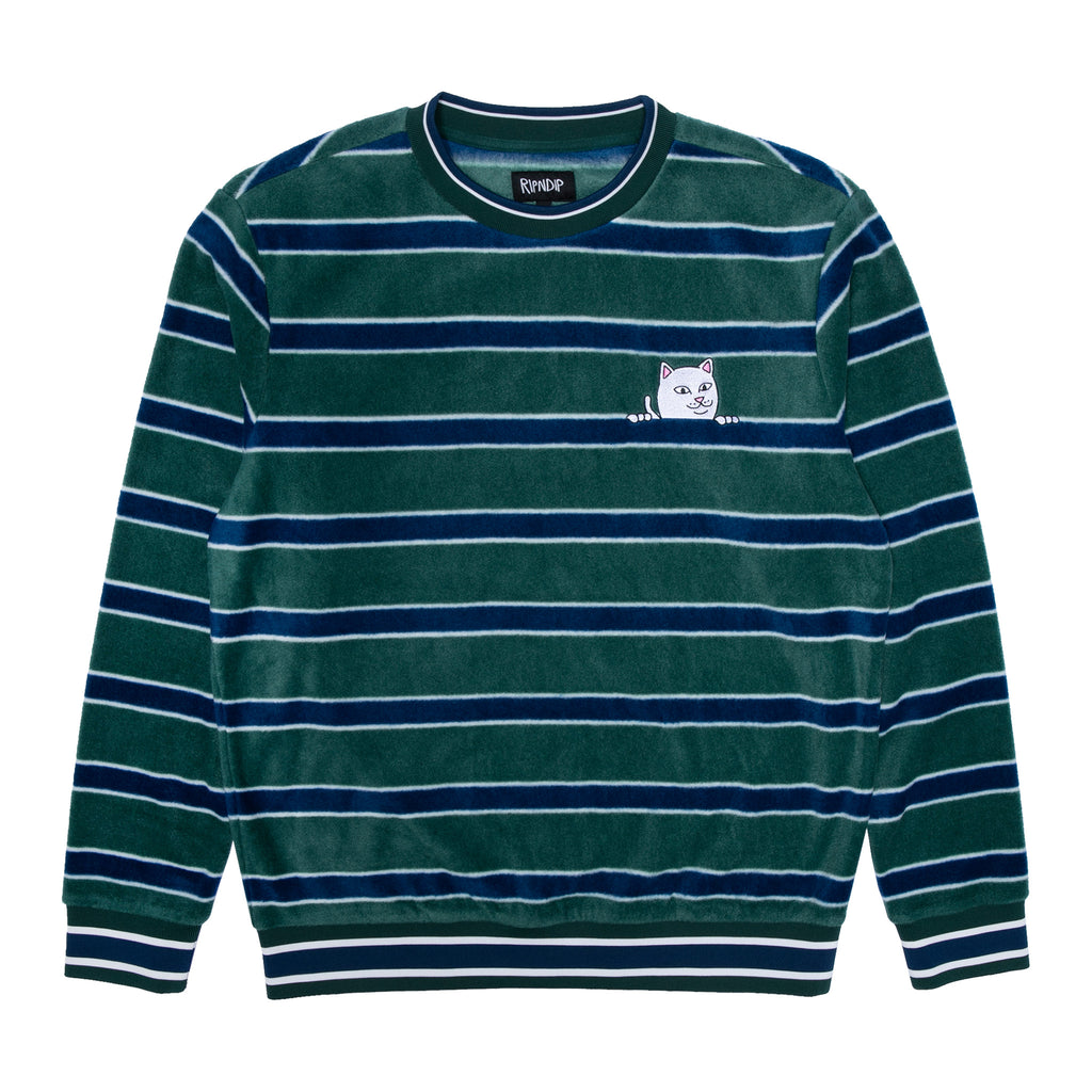 Peeking Nermal Polar Fleece Long Sleeve (Hunter/Navy)