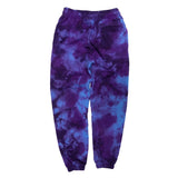 Psychedelic Sweat Pants (Purple Lightning Wash)