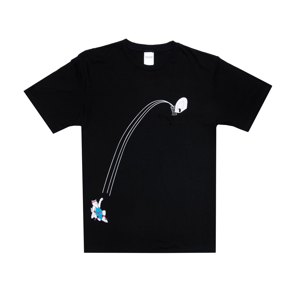 Hoops Pocket Tee (Black)