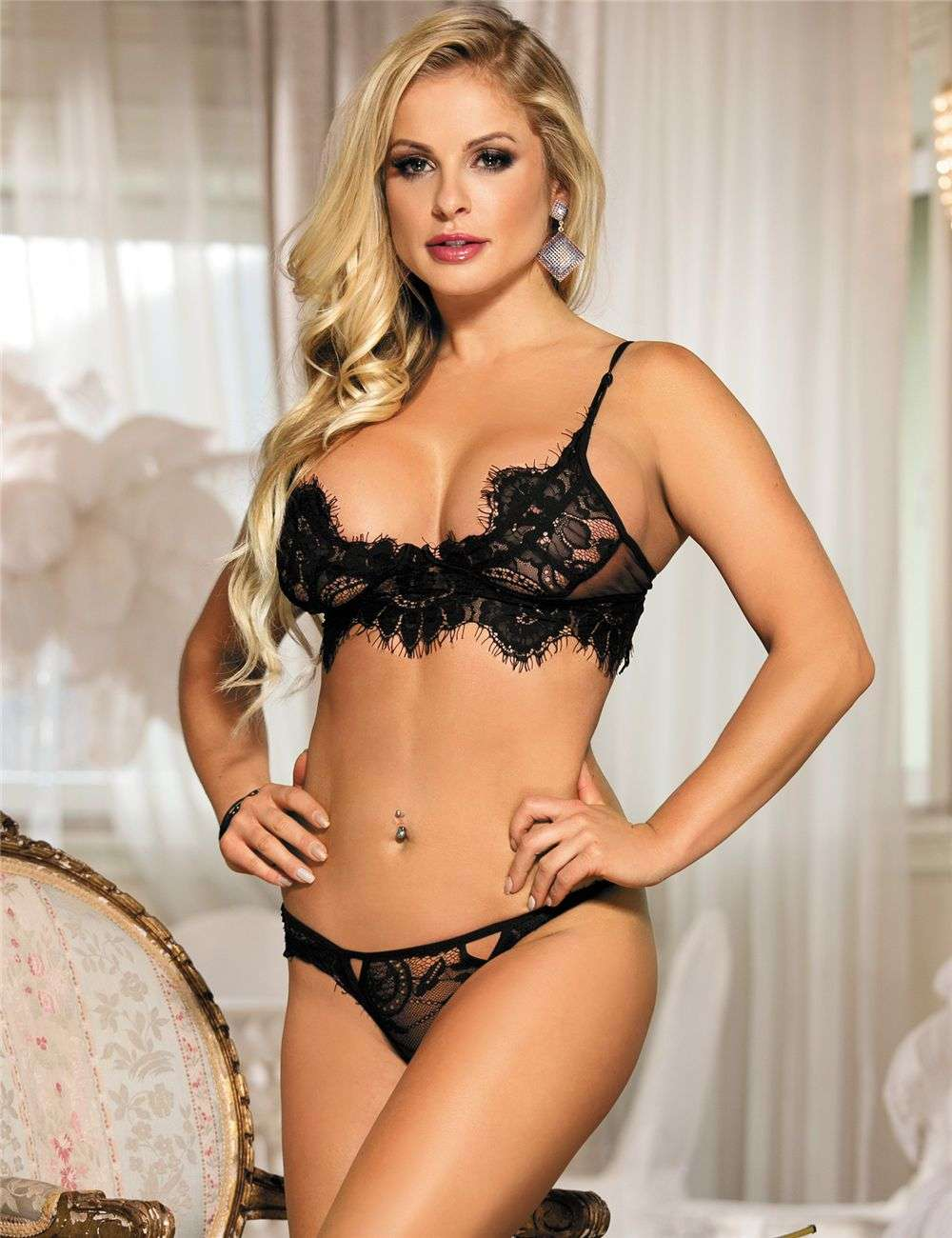 Lingerie De Paris llc:Sexy Lace Bra Set