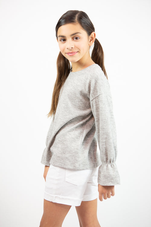 Hayden Cinched Sleeve Sweater Top