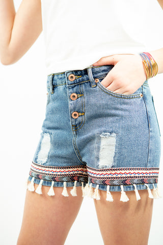 Habitual Girl Ellie Bow Stripe Shorts