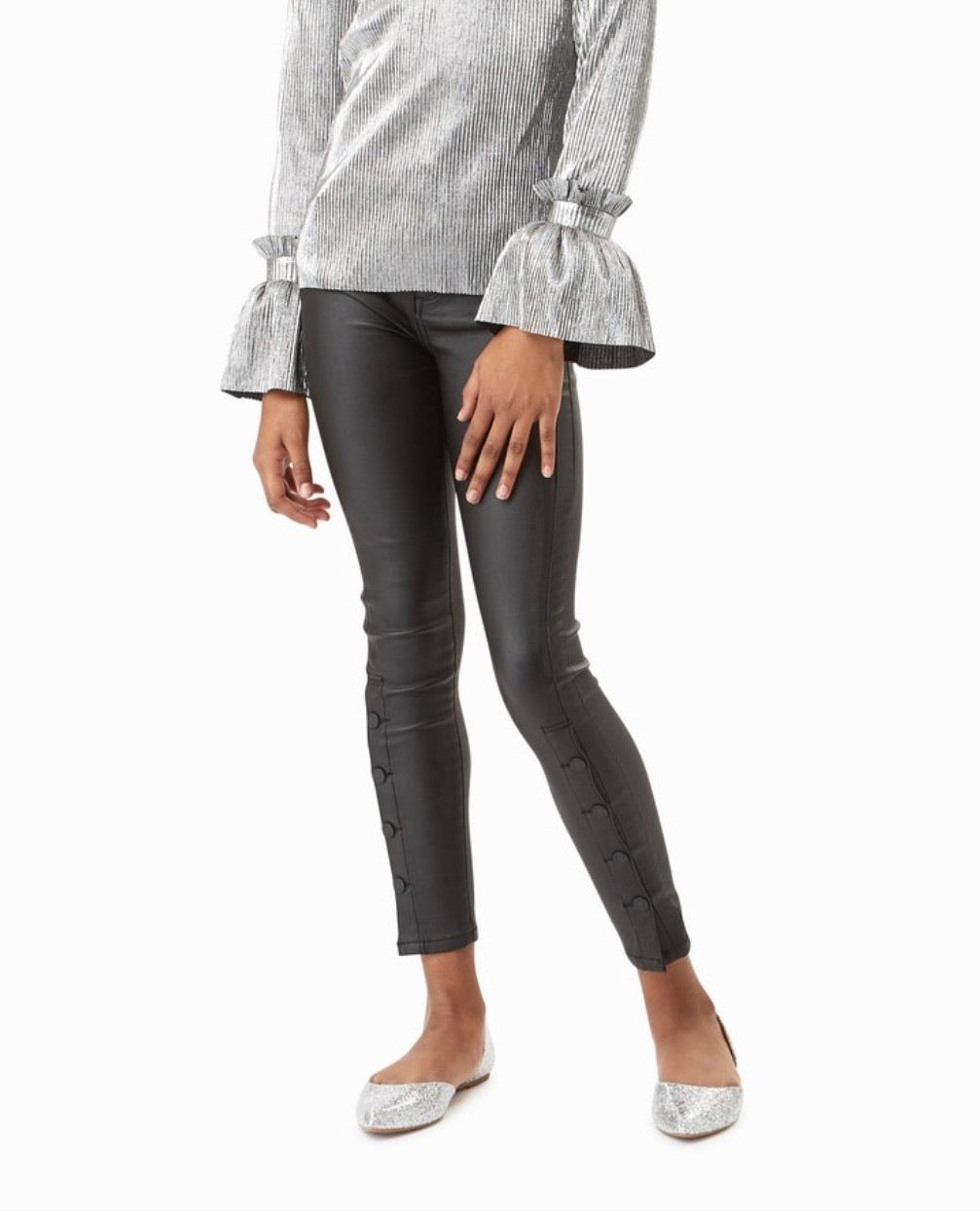 Habitual Girl Karlie Coated Skinny Jeans