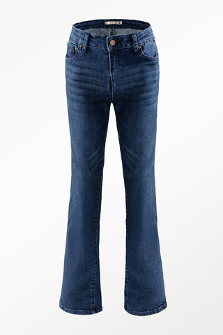 Tractr High Rise Ankle Crop Jean