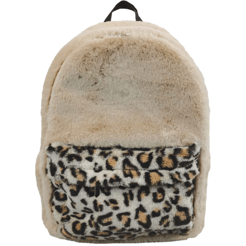 Classic Leopard Furry Backpack
