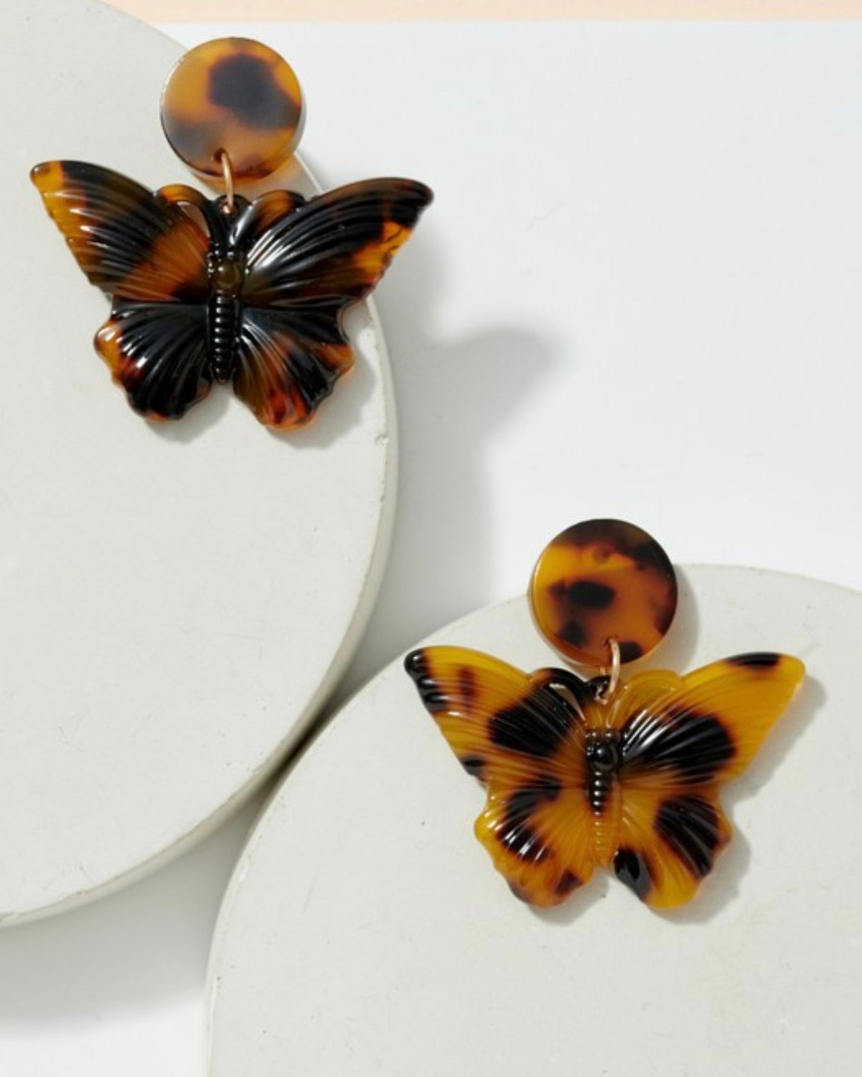 Butterfly Acetate Earrings