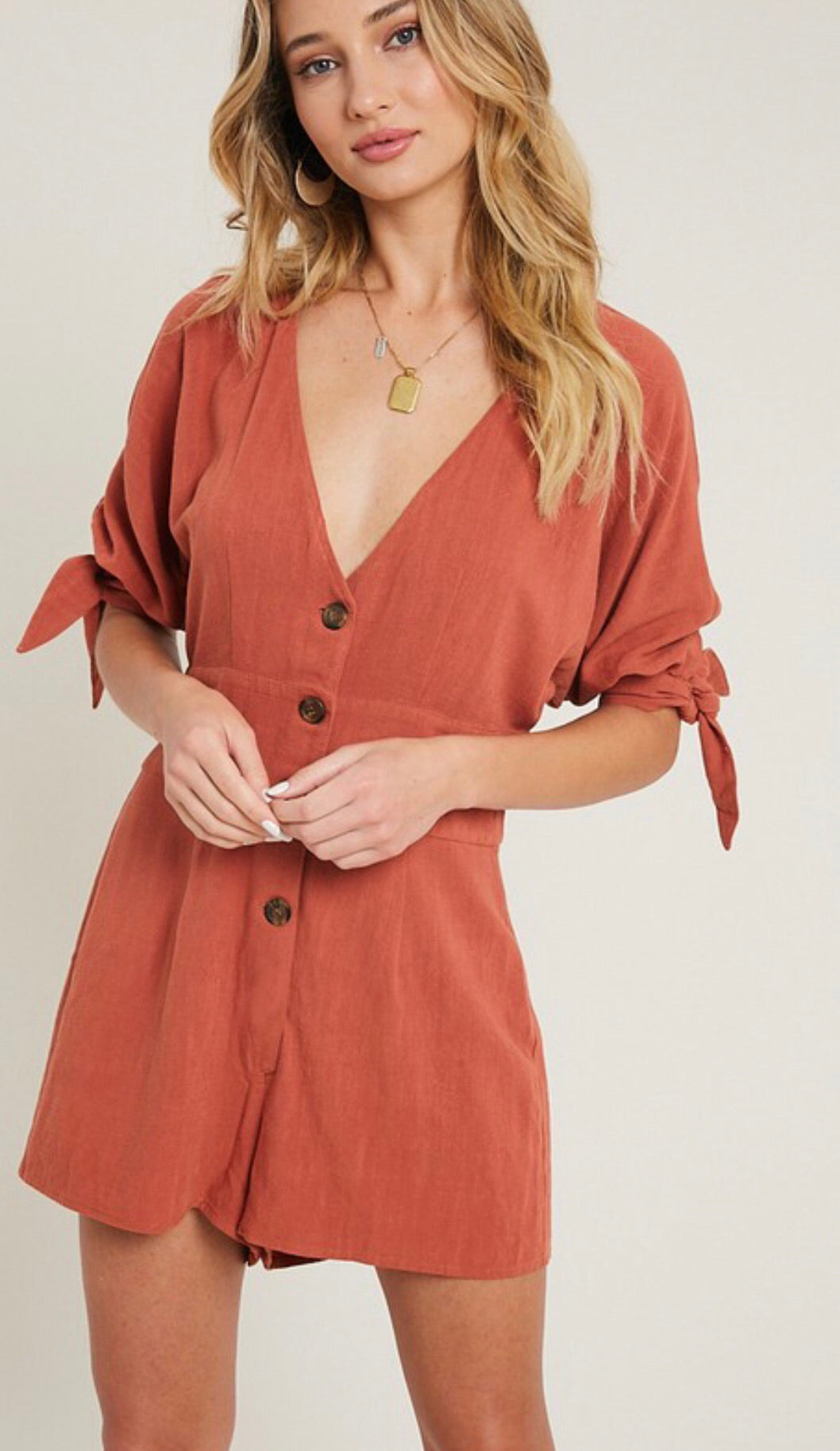 Canyon Button Up Romper