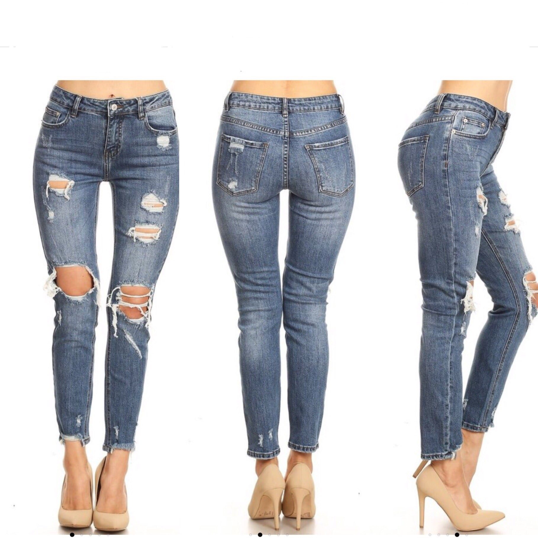 Kylie Slim Boyfriend Denim