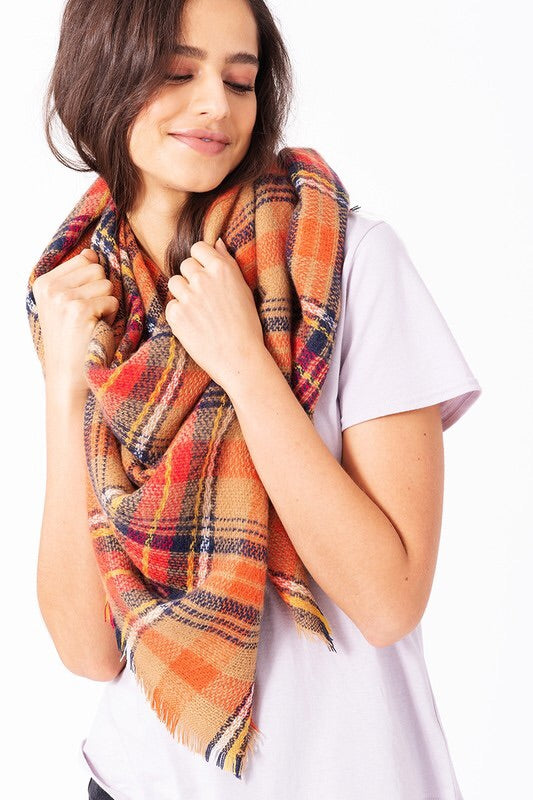 Must-Have Winter Plaid Blanket Scarf