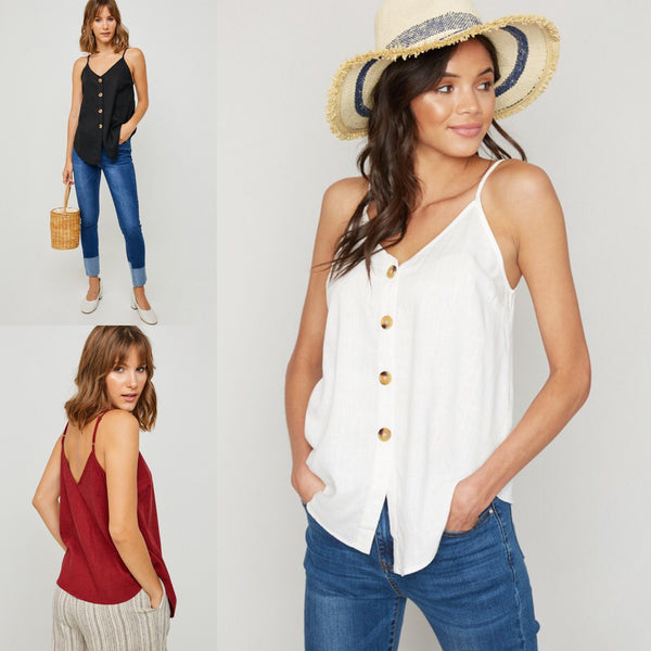 Coconut Button Tank