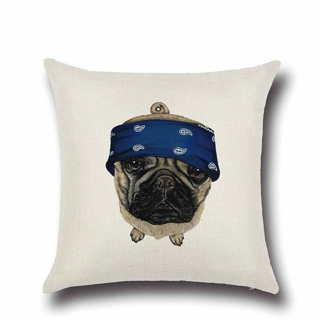 Gangsta Pug Cushion Cover