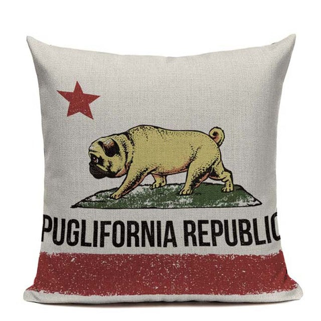 Puglifornia Republic Cushion Cover