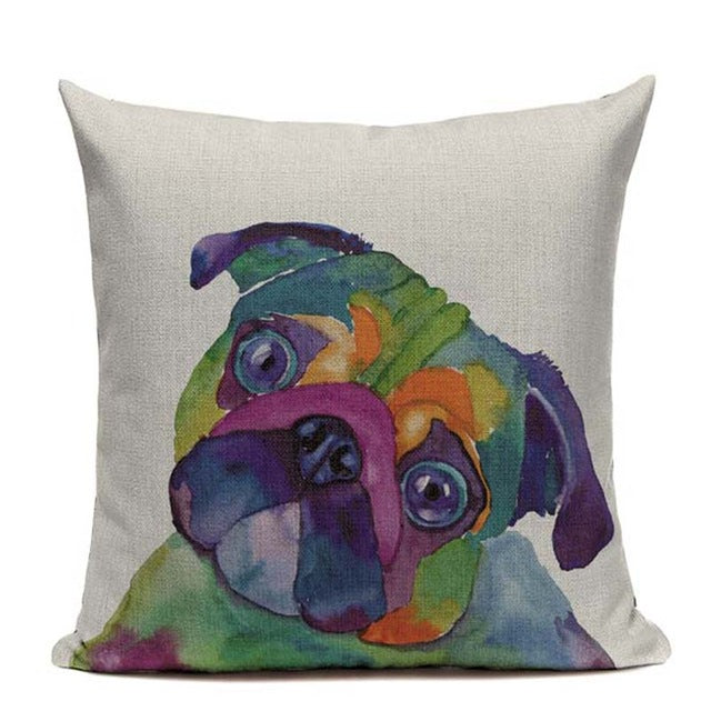 Art Pugs Cushion Cover
